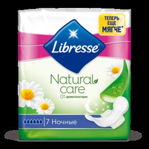 Libresse Natural Care прокладки GoodNight, 6 капель, 7 шт