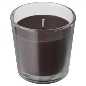 Ароматическая свеча в стакане, Перец/черный7.5 см СИНЛИГ