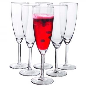 Бокал для шампанского, прозрачное стекло 21 сл СВАЛЬК