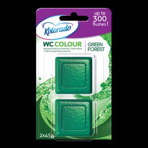 Kolorado WC Colour Таблетка для бачка унитаза Forest green 2 шт